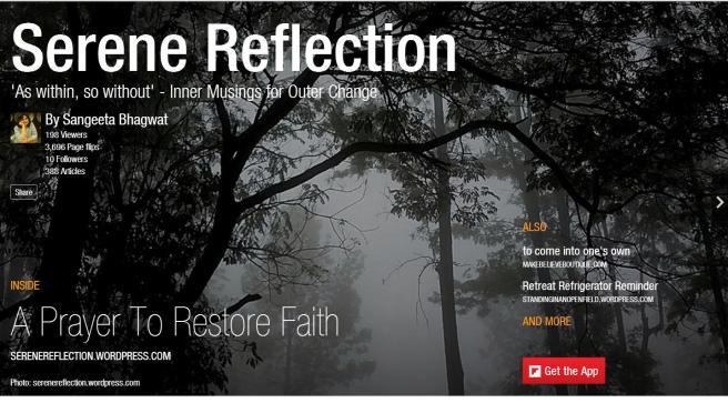 Serene Reflection Flipboard cover