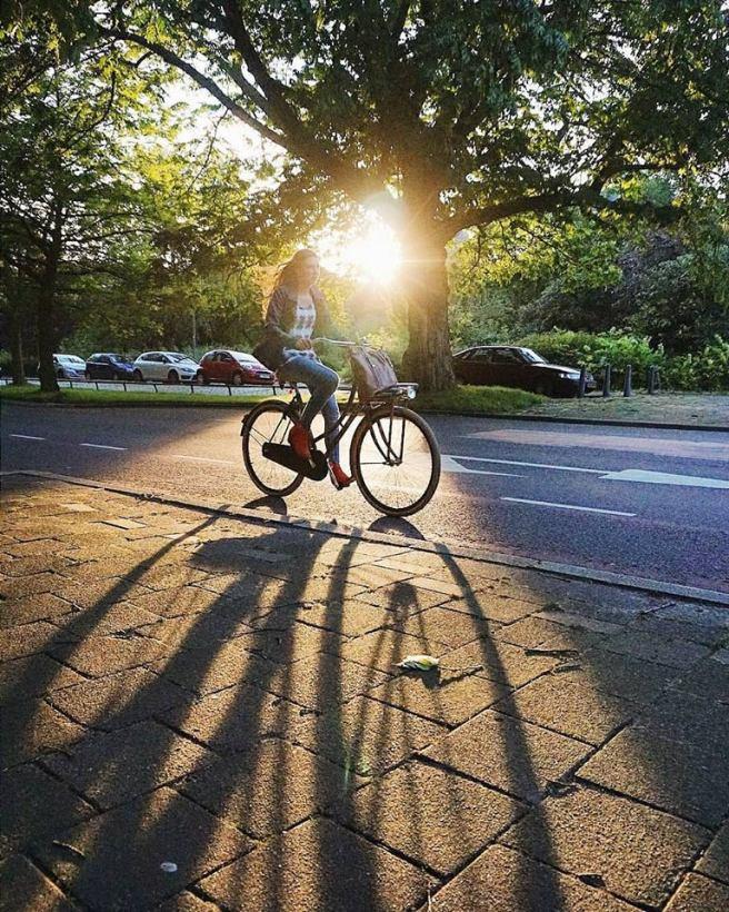 Woman cycling - Tanushree Vaidya Photography