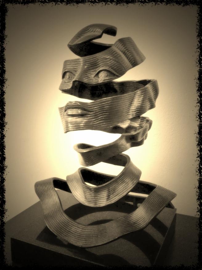 Bronze Sculpture by M.C. Escher