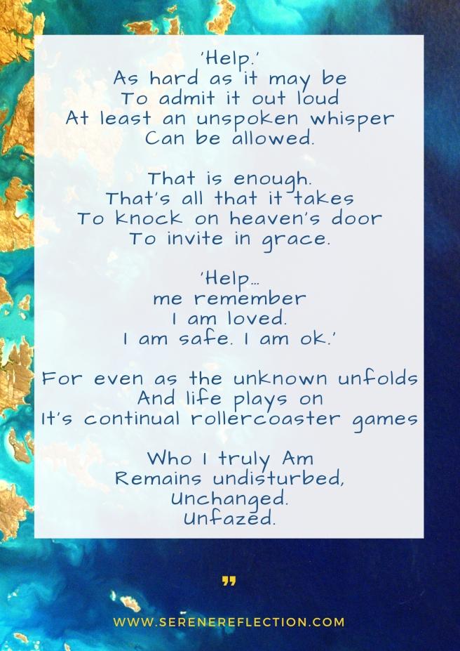 Poem: 'Help.' by Sangeeta Bhagwat